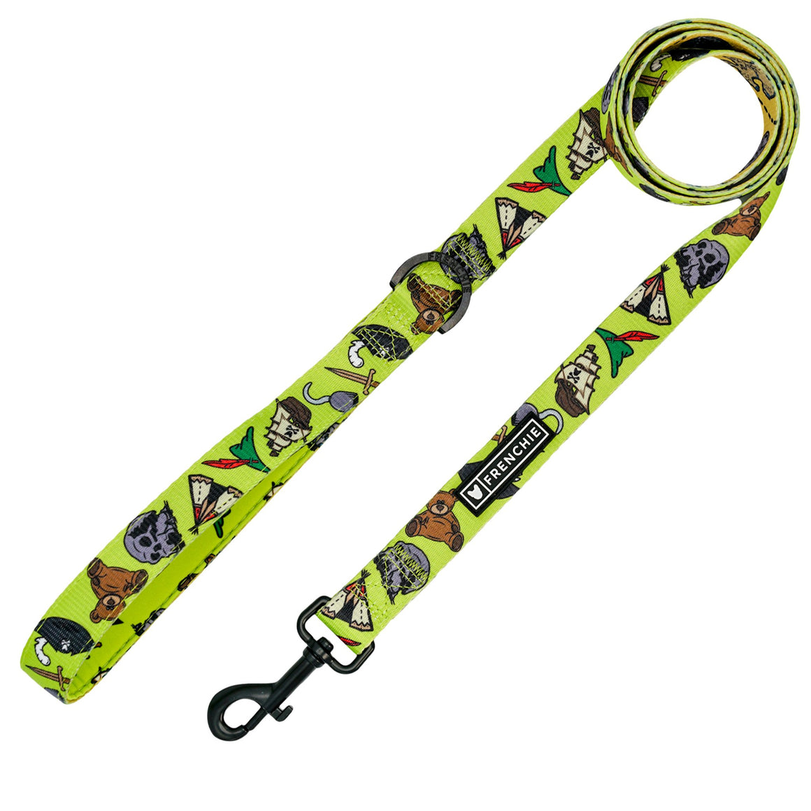 Frenchie Comfort Leash - Pirate's Cove - Frenchie Bulldog - Shop Harnesses for French Bulldogs - Shop French Bulldog Harness - Harnesses for Pugs