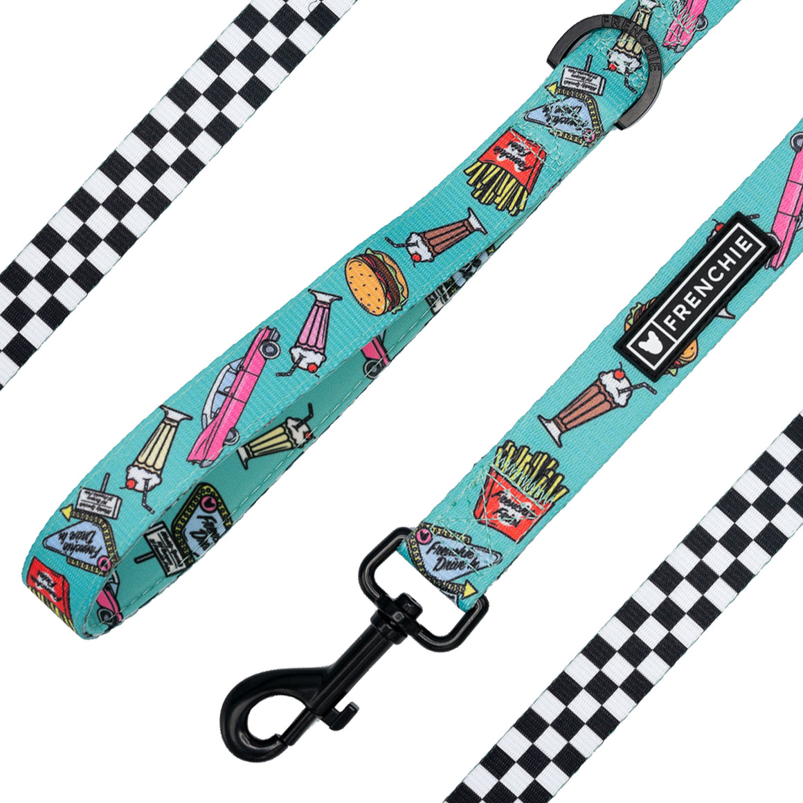Frenchie Comfort Leash - Frenchie Drive-In - Frenchie Bulldog - Shop Harnesses for French Bulldogs - Shop French Bulldog Harness - Harnesses for Pugs