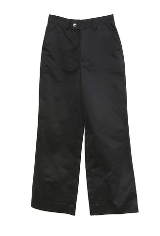 Wide Leg Western Trouser Black