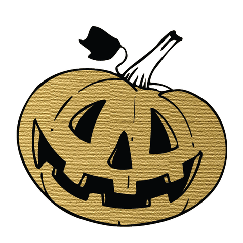 Halloween Party: Smiling Pumpkin (Gold) - Kromebody