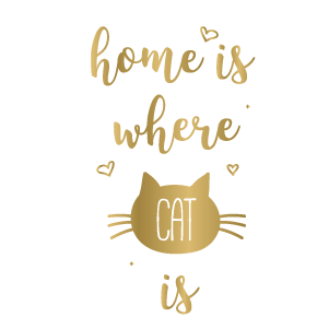 Home is Where Cat is (Gold) - Kromebody