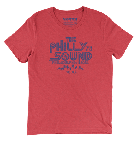The Philly Sound 76 - Men's Unisex TriBlend Red Short Sleeve T-shirt