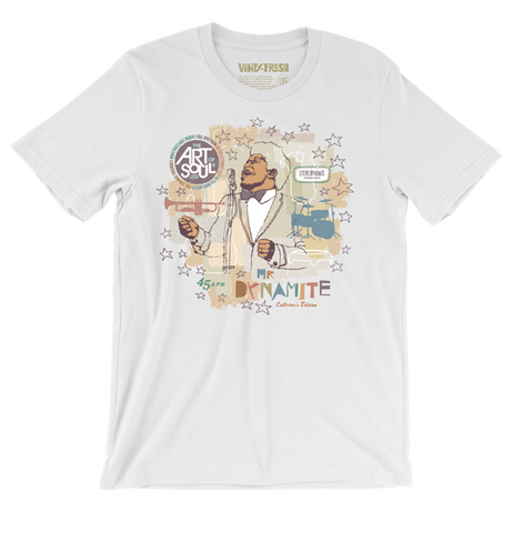 Mr. Dynamite - Men's Unisex White Short Sleeve T-shirt