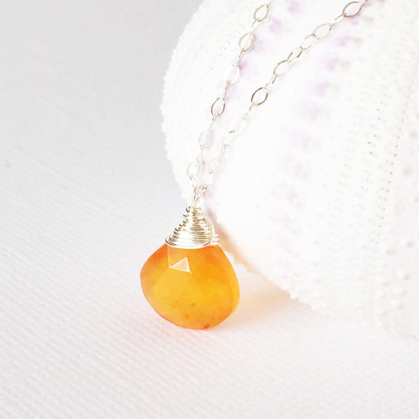 Necklace Kaipo - carnelian  (N101)
