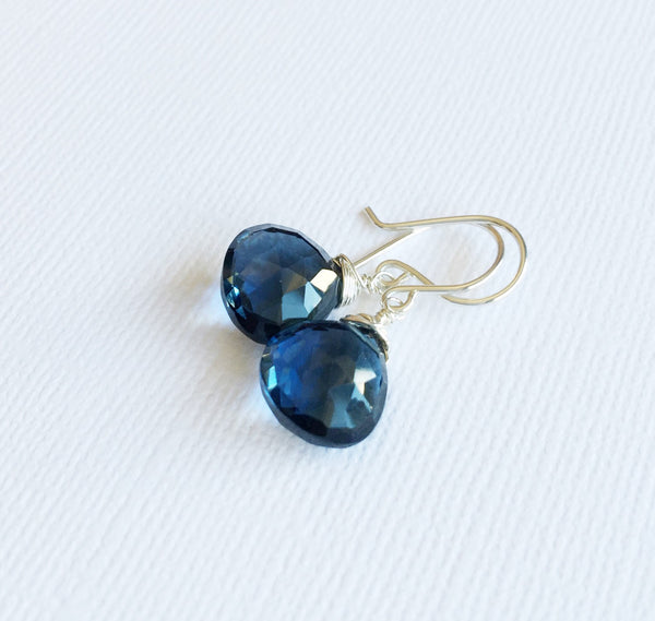 Earrings Kala - London blue quartz (E258)