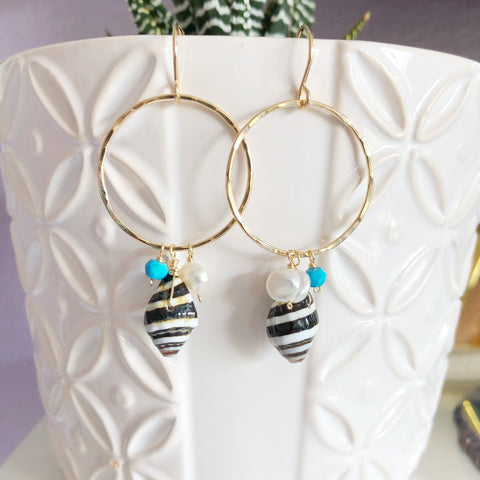 Earrings Myra - turquoise (E507)