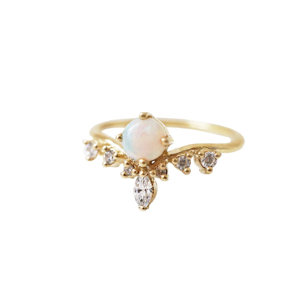 10K Australian Opal Angel Ring - Melroso Jewelry