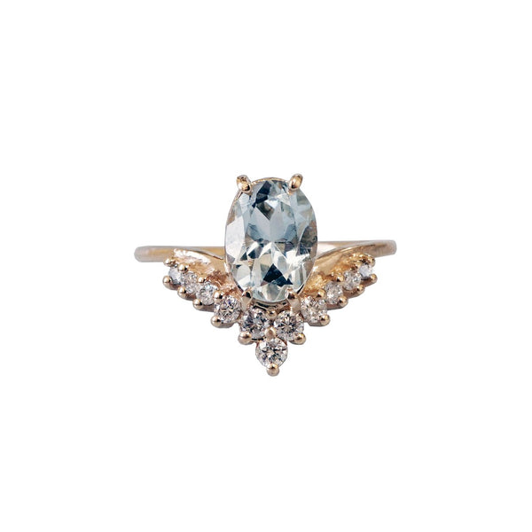 14KT All A Dream Aquamarine Ring - Melroso Jewelry