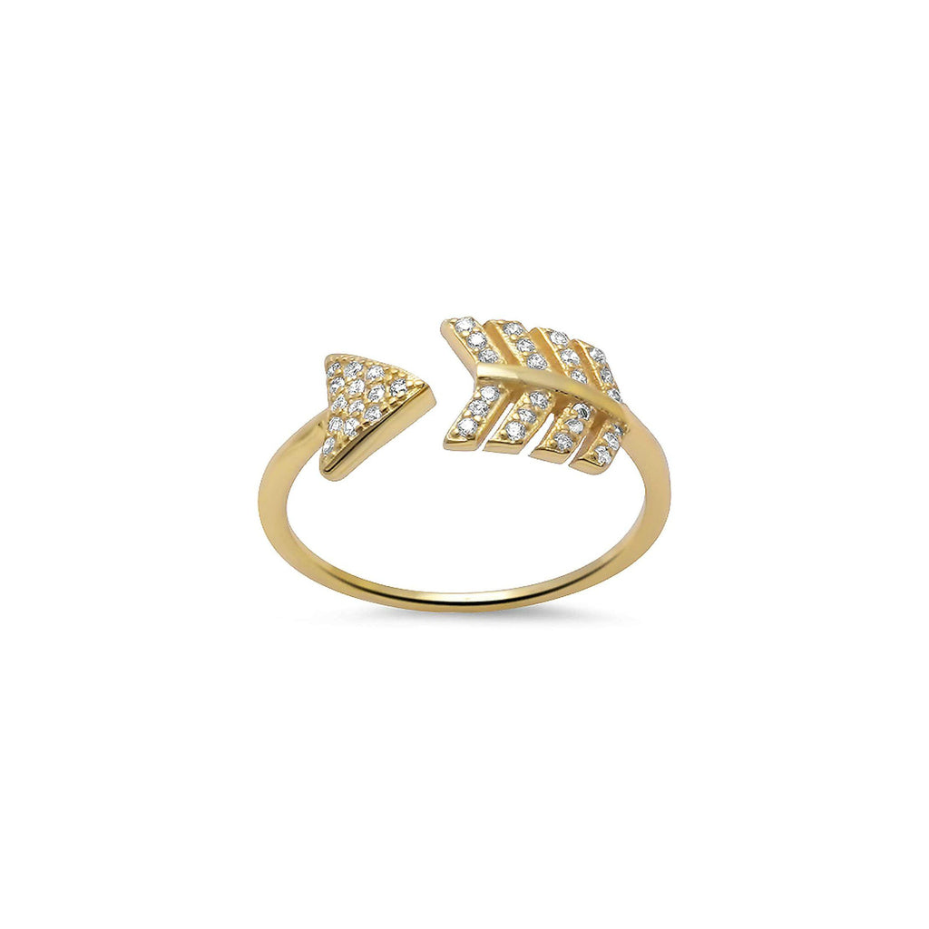 Gold Arrow Ring - Melroso Jewelry