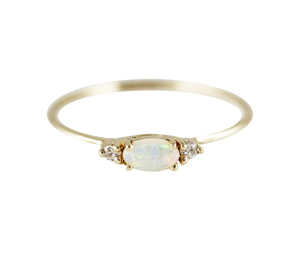 14KT Augusta Opal Ring - Melroso Jewelry