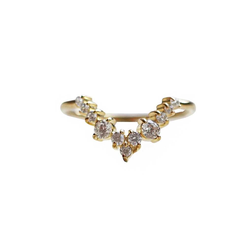 14KT Goddess Diamond Ring - Melroso Jewelry