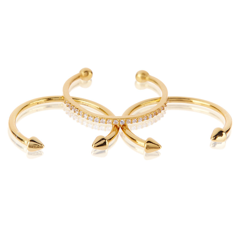 The Barbell Ring Set - Melroso Jewelry