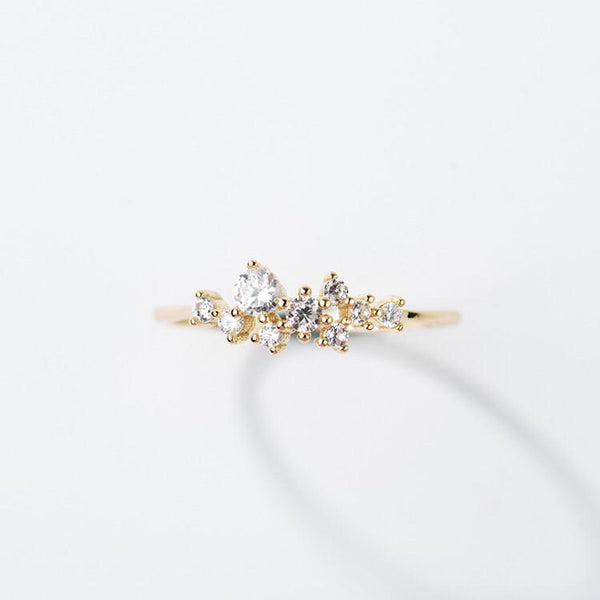 14KT Gold Snow Queen Dainty Ring**BEST SELLER - Melroso Jewelry
