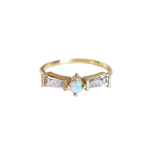 10K Australian Opal Tower Ring - Melroso Jewelry