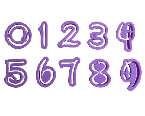 Character Themed Numbers Cutter Set - Miles Cake & Candy Supplies
