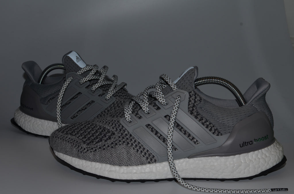 3m Grey Reflective Flat Laces