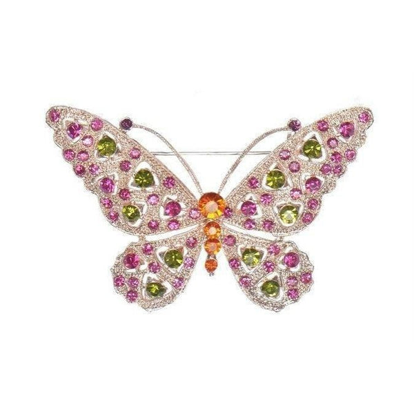 Butterfly Brooch-Discontinued-Pink-Tegen Accessories