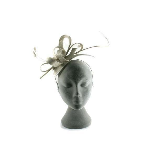 Silver/Grey Shimmer Fascinator-Discontinued-Silver-Tegen Accessories