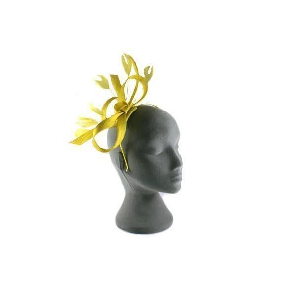 Yellow Bow Fascinator-Discontinued-Yellow-Tegen Accessories