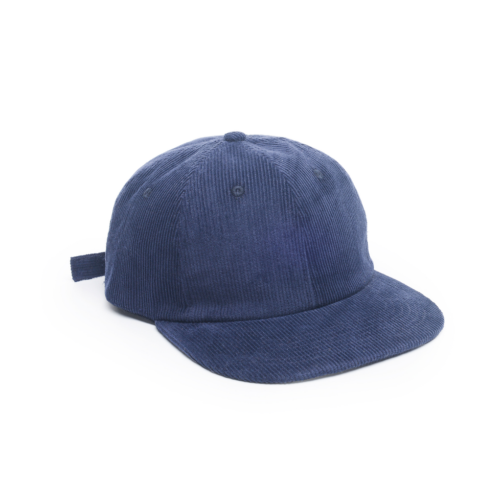 Navy - Corduroy Unconstructed Floppy 6 Panel Hat for Wholesale or Custom