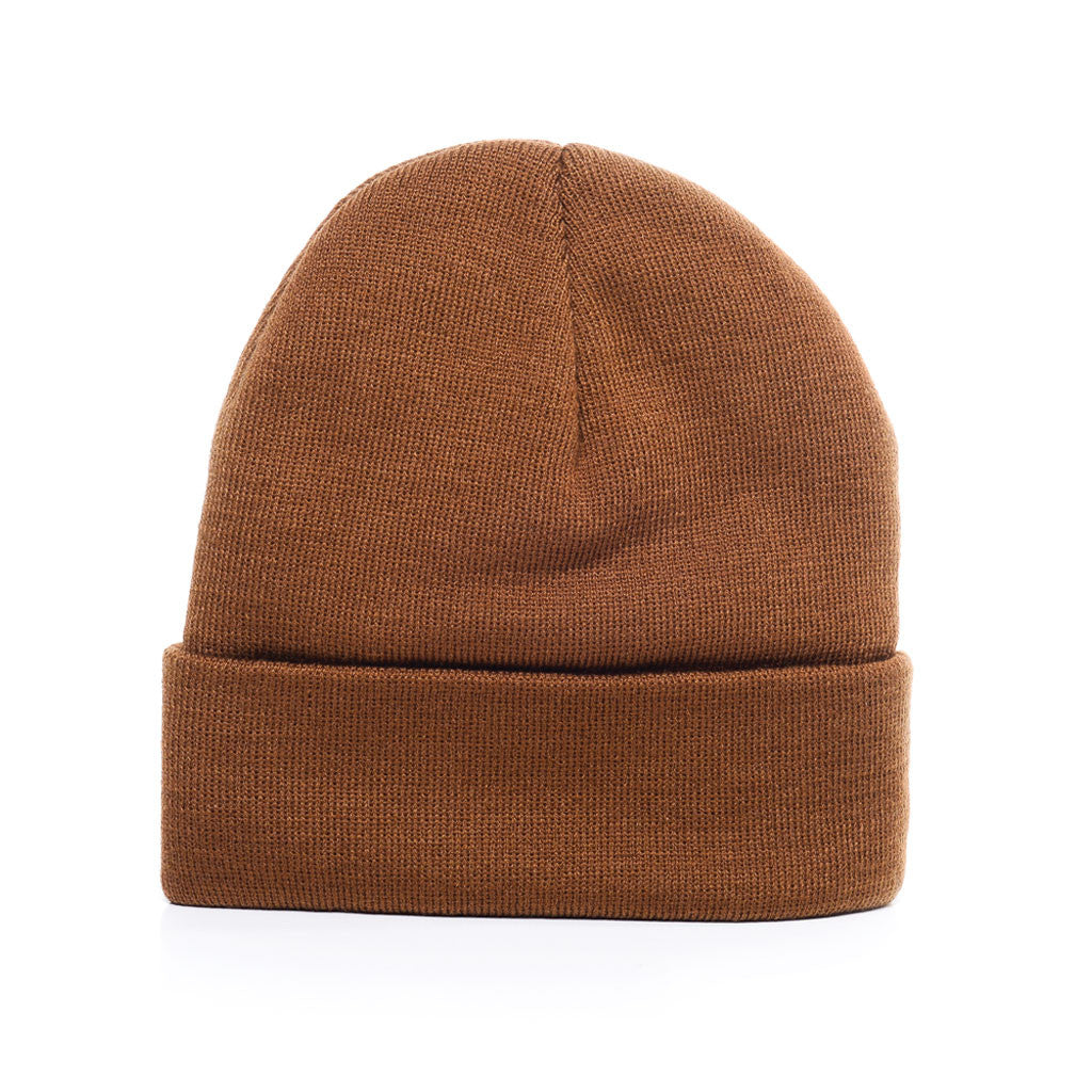 Carhartt Brown - Acrylic Rib-Knit Beanie Hat for Wholesale or Custom