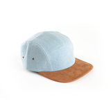 Denim & Suede - Blank 5 Panel Hat for Wholesale or Custom