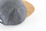 Wool & Suede Blank 5 Panel Hat for Wholesale or Custom