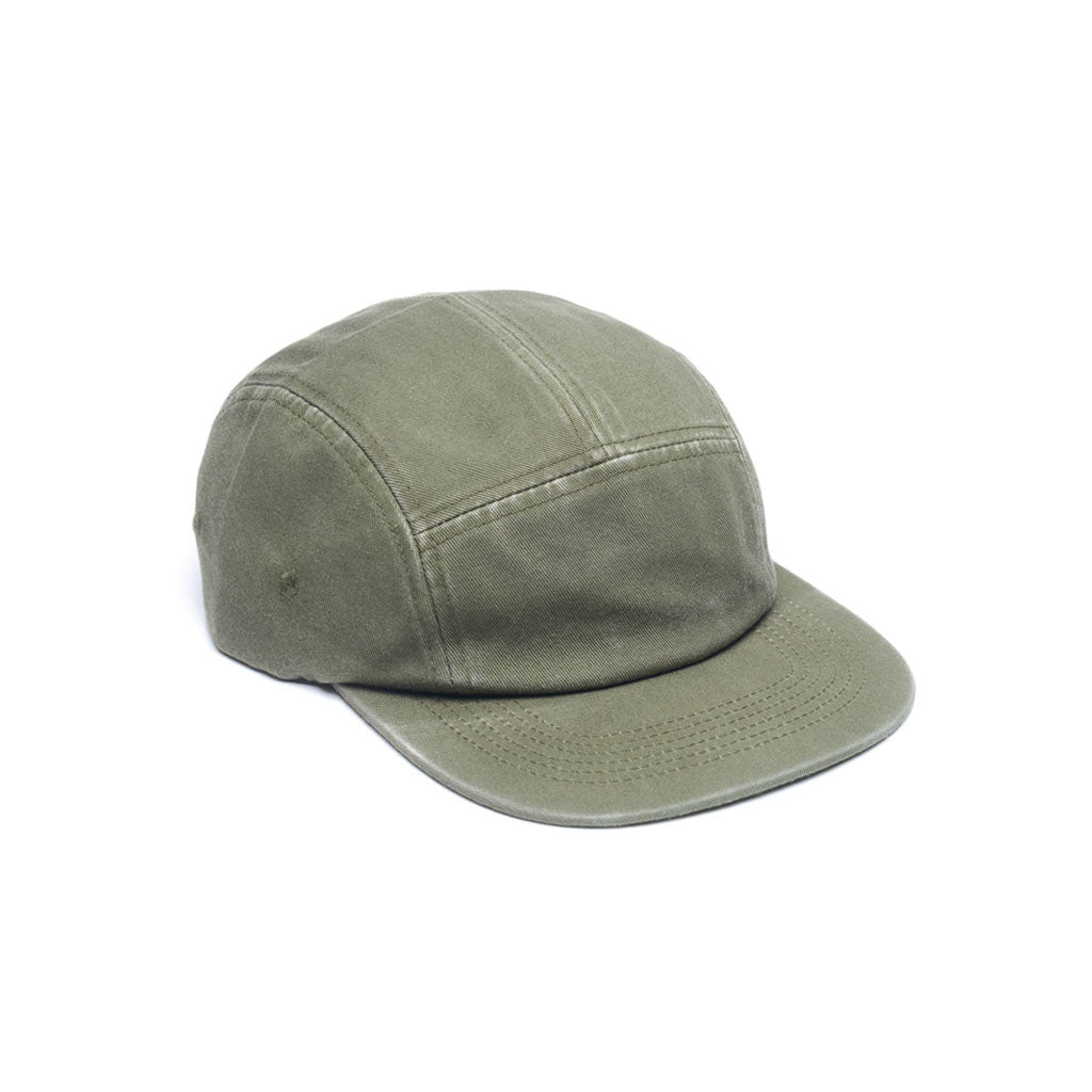 Army Green - Faded Cotton Twill Blank 5 Panel Hat for Wholesale or Custom