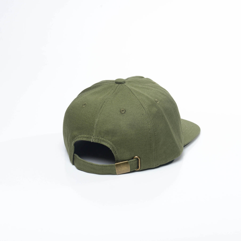 Army Green - Unconstructed 5 Panel Strapback Hat for Wholesale or Custom