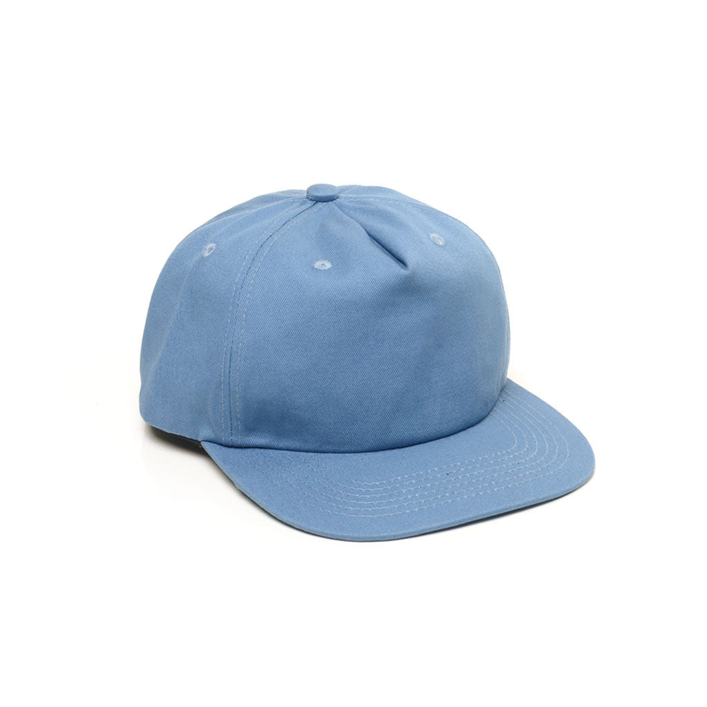 Light Blue - Unconstructed 5 Panel Strapback Hat for Wholesale or Custom