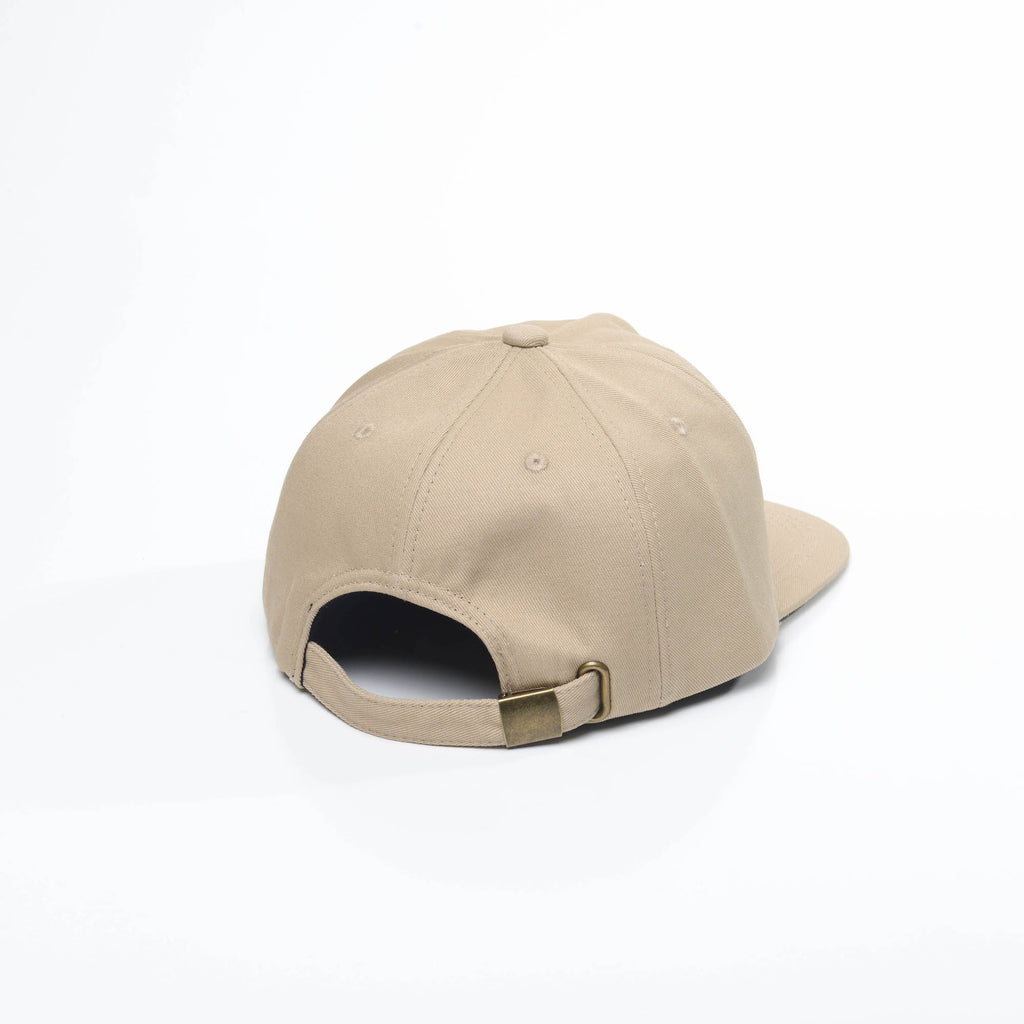 Sand - Faded Unconstructed 6 Panel Hat for Wholesale or Custom