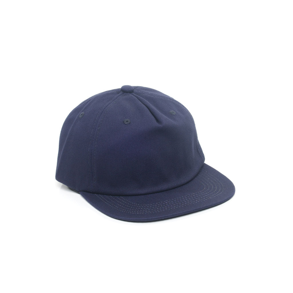 Navy Blue - Unconstructed 5 Panel Strapback Hat for Wholesale or Custom