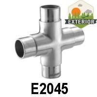 "4-Way Cross Fitting for 1 2/3"" Handrail (E2045) - Stair Parts USA - 3"