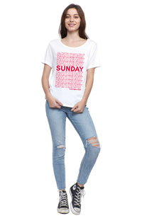 social sunday come again short sleeve tee t shirt