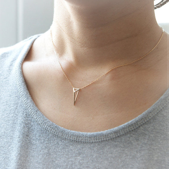 3D Triangle Necklace