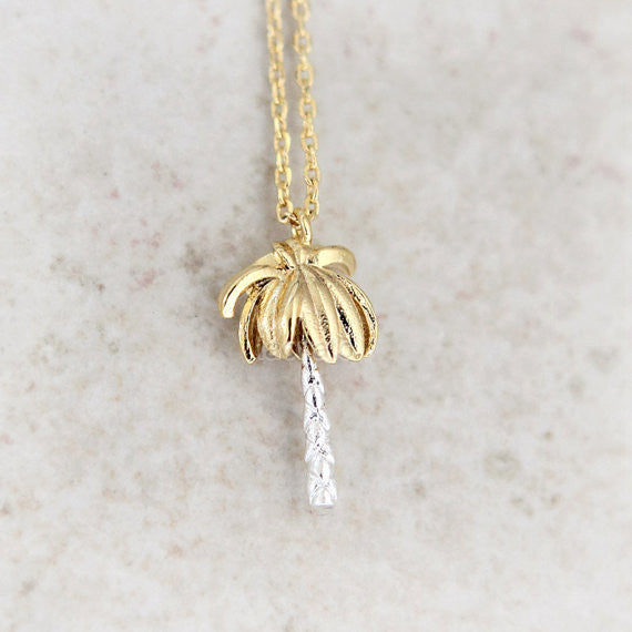 Gold Palm Tree Necklace