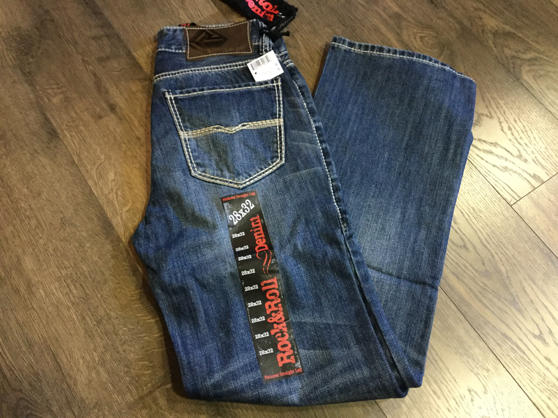 Rock & Roll 8553 Double Barrel Straight Relaxed Straight Leg Men's Jeans