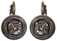 earring eurowire Cages pastel multi antique brass SS 29