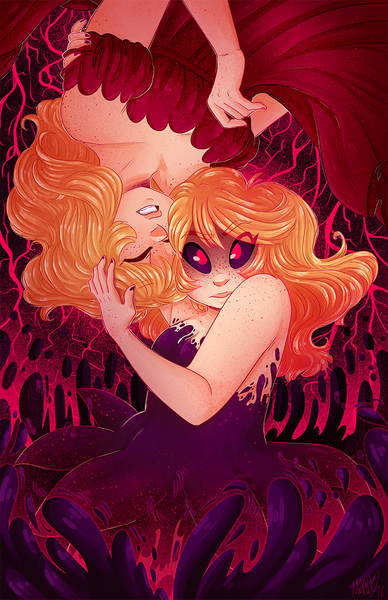 Alice and Her Reflection print from Alice and the Nightmare - Webcomic Merchandise