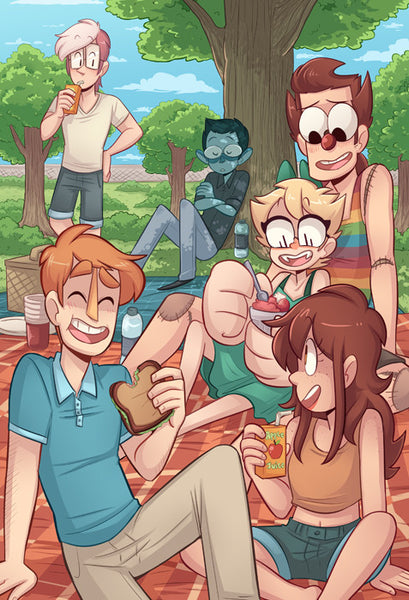 Monsterkind - Picnic print from Monsterkind - Webcomic Merchandise
