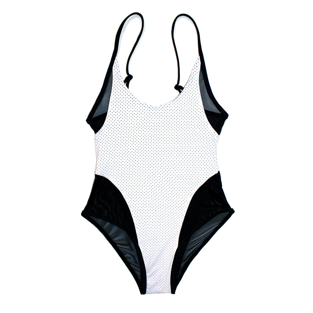 Mikito Mesh Suit - Perforated White