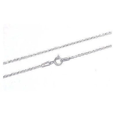 ITALIAN STERLING SILVER 925 DIAMOND CUT ROPE CHAIN 1.2MM 16""