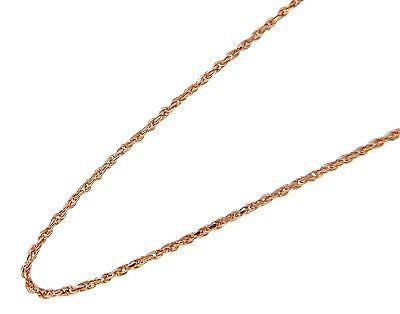 "1MM 14K PINK ROSE GOLD DIAMOND CUT ROPE CHAIN NECKLACE LOBSTER CLASP 16"" -24"""