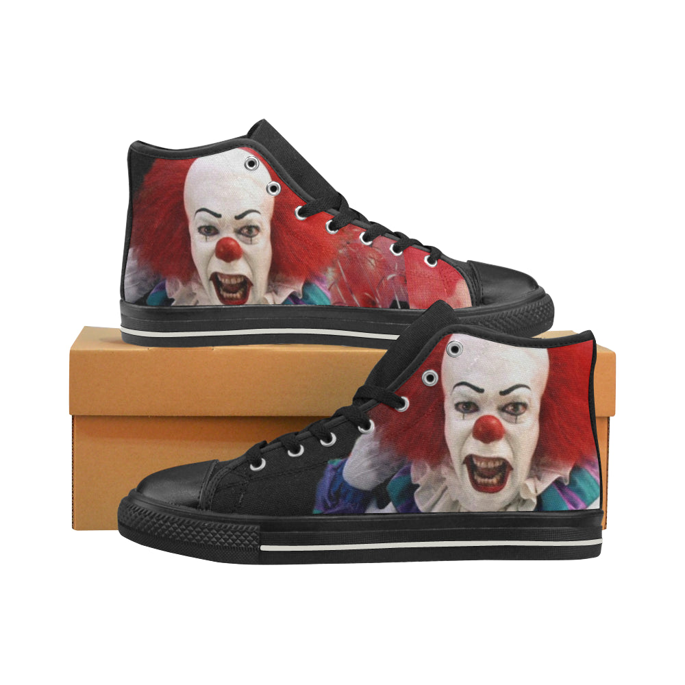 PennyWise IT Men's Classic High Top Canvas Shoes