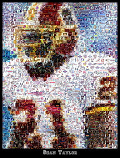 Washington Redskins Sean Taylor Mosaic Print Limited Edition
