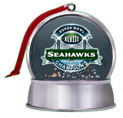 3-in-1 Seattle Seahawks Super Bowl 48 Champs NEW SnowGlobe Magnet Tree Ornament , Football-NFL - n/a, Final Score Products