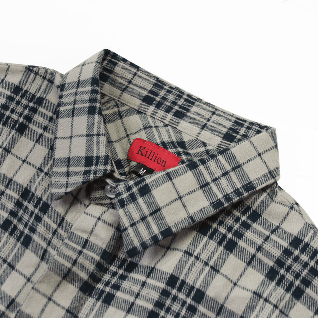 Goodwin Flannel Buttonup - Navy/Sand