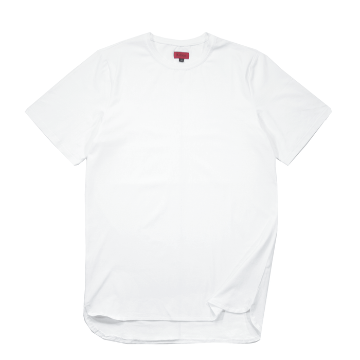 Half Scoop Hem SS Essential - White (07.16 Release)