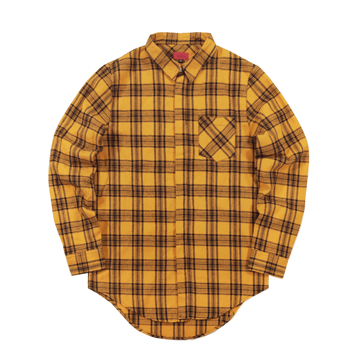 Harbor Flannel LS Buttonup - Golden Yellow/Black
