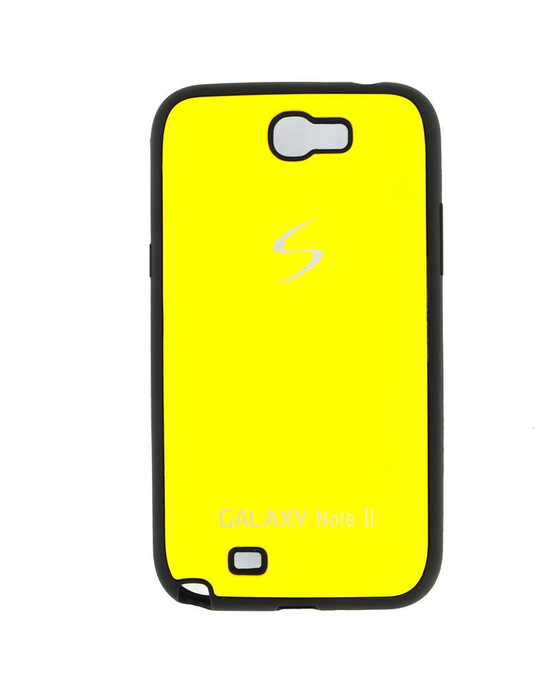 Fashionable Metal Skinned Mobile Cover For Samsung Galaxy Note 2 N7100-YELLOW